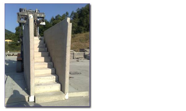 Ediltraman company s n c manufatti in cemento for Scale prefabbricate